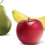 Պյուրե խնձորից, տանձից և բանանից