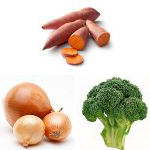 sweet potato onion broccoli