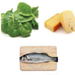 fish spinach cheese