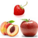 peach apple strawberry