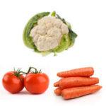 tomato cauliflower carrot